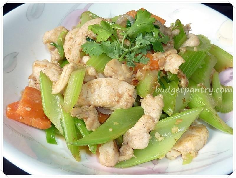 August- 5- Stir-fry Celery with Garlic Chicken