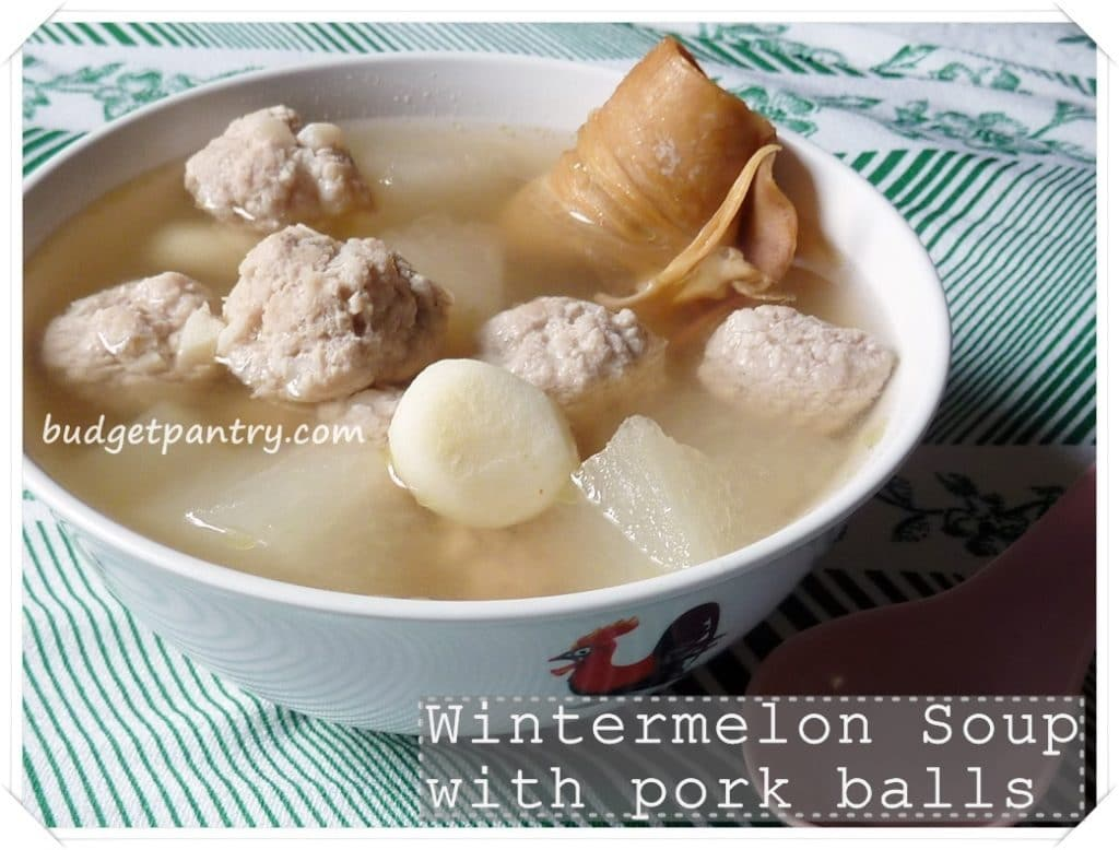 1 Sept- Wintermelon Soup with Pork Balls