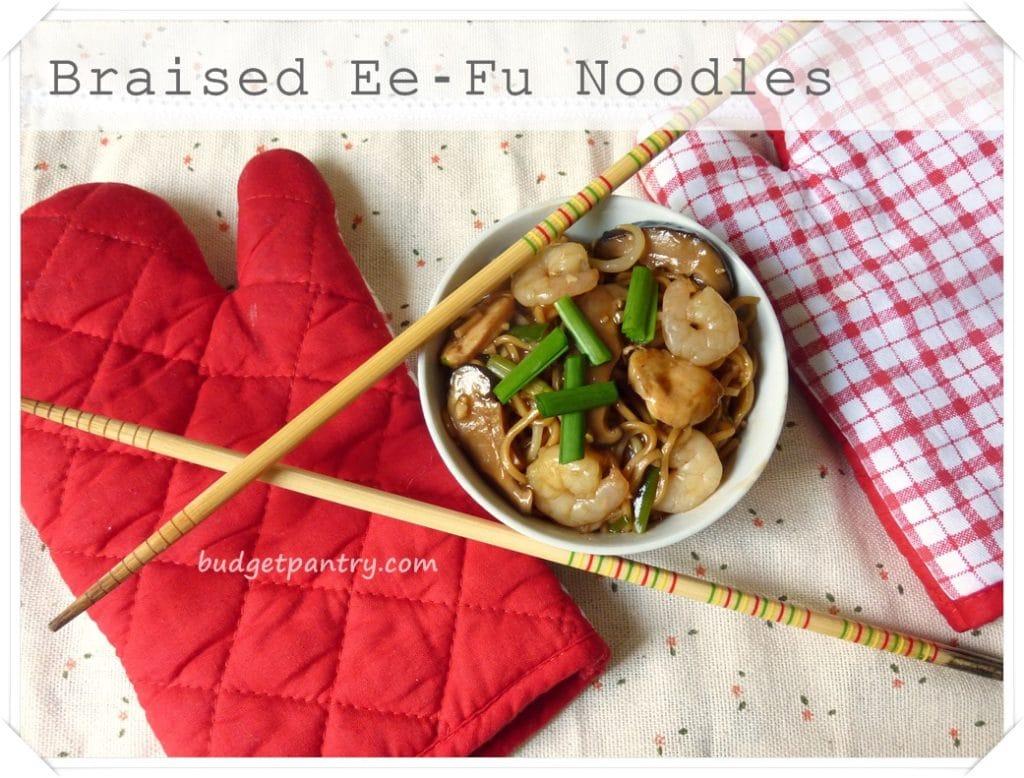 Oct 4- Braised Ee- Fu noodles