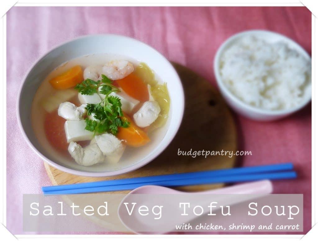 Salted veg soup