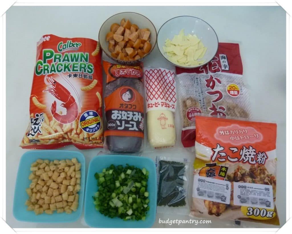 Dec 30- Homemade Takoyaki Ingredients