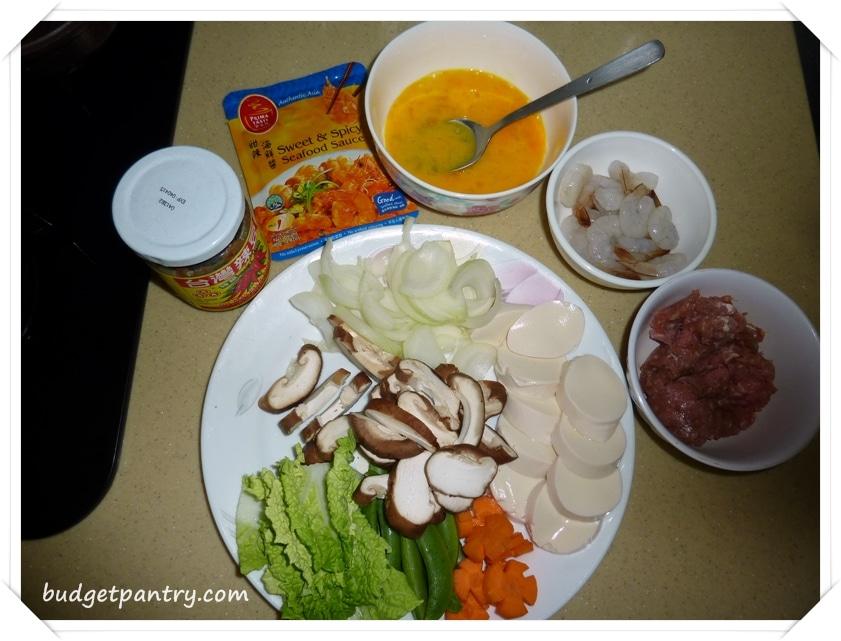Jan 9- Happy Call Hotplate Tofu Ingredients