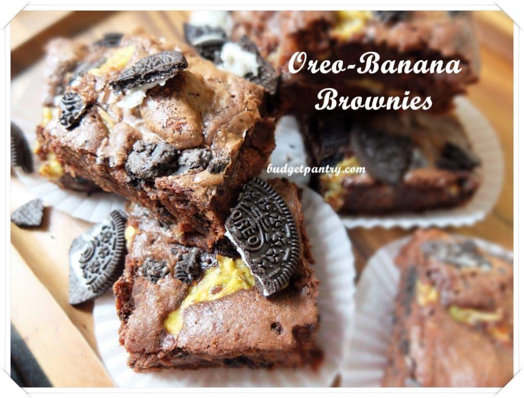 Mar 9- Oreo Banana Brownie mains