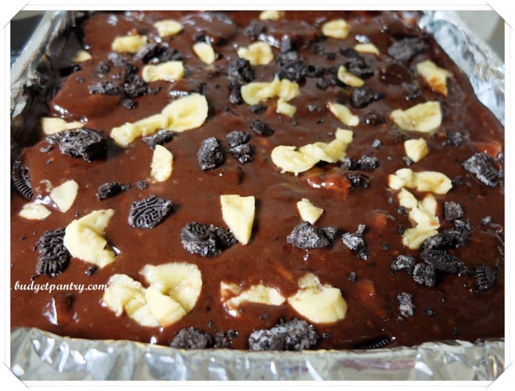 Mar 9- Oreo Banana Brownie sprinkle