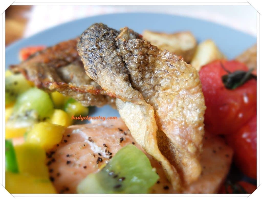 March 14- Mango Salsa Salmon with Crispy Skin airfried