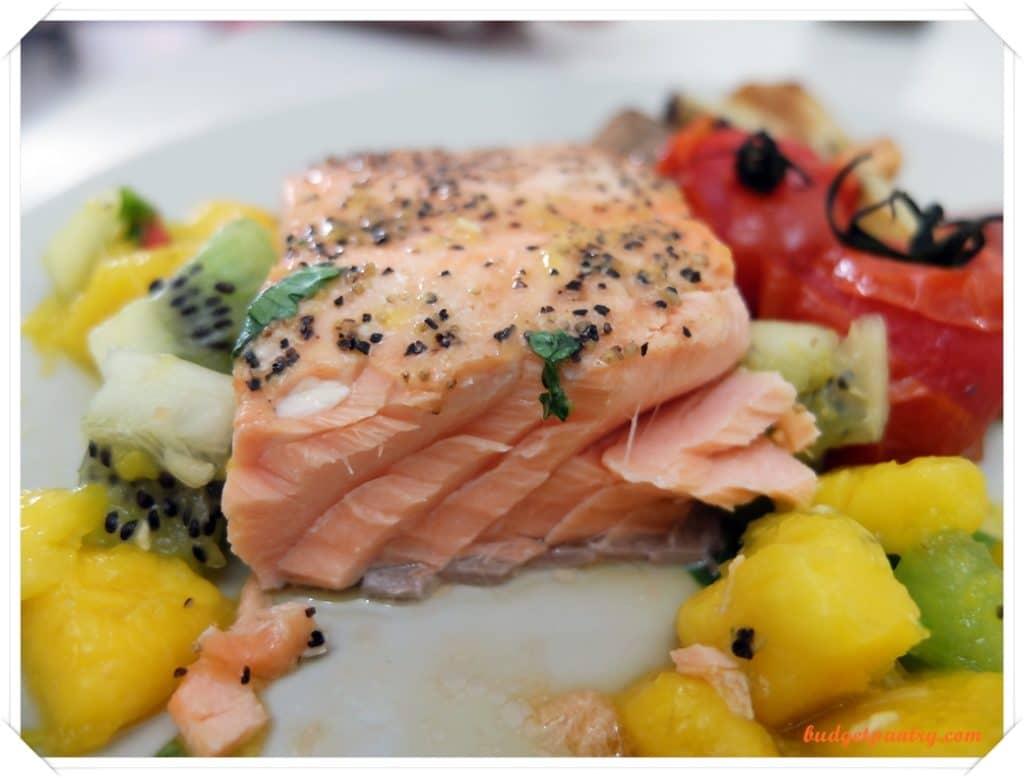 March 14- Mango Salsa Salmon with Crispy Skin flesh