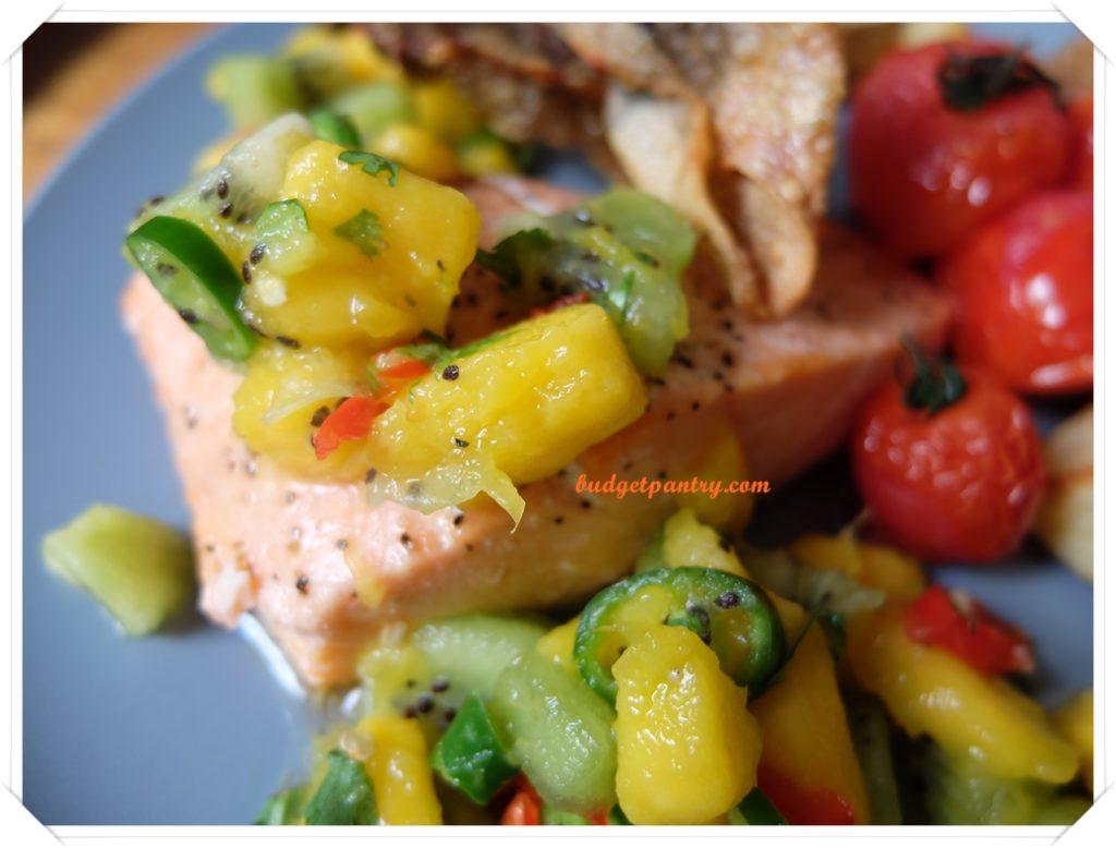 March 14- Mango Salsa Salmon with Crispy Skin kiwi
