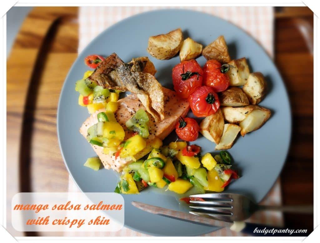 March 14- Mango Salsa Salmon with Crispy Skin