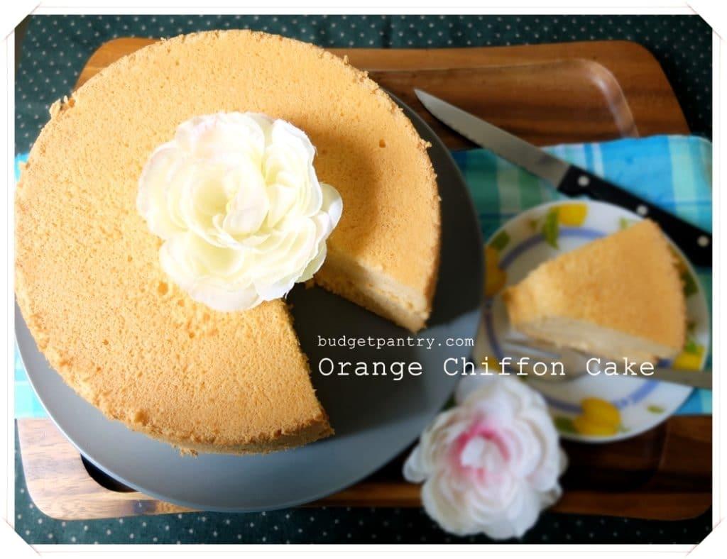 May 15- Orange Chiffon Cake