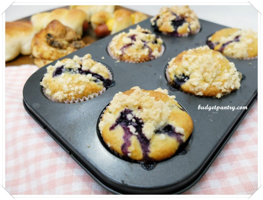 May 28- Blueberry Crumble Muffins tray