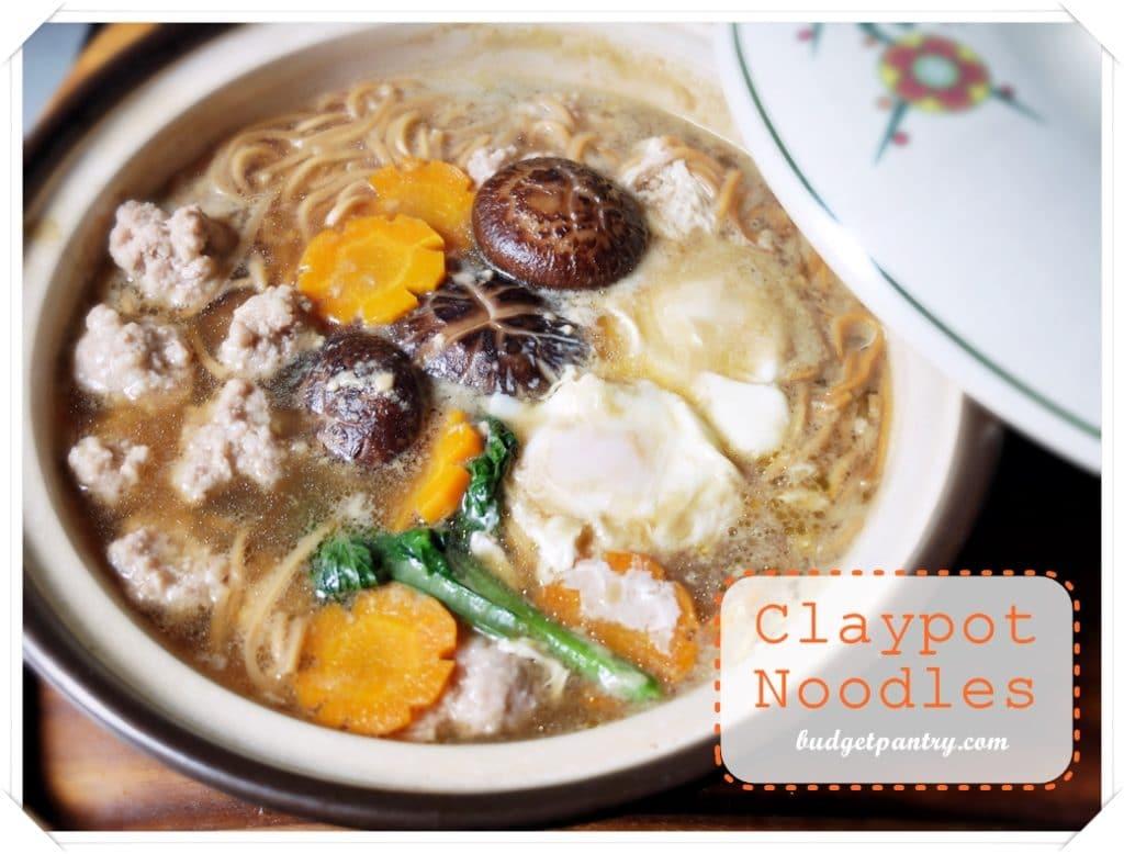 May 7- Claypot Noodles