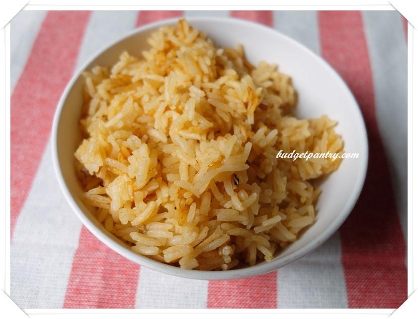 June 14- Nasi Goreng Sambal Rice Cooked