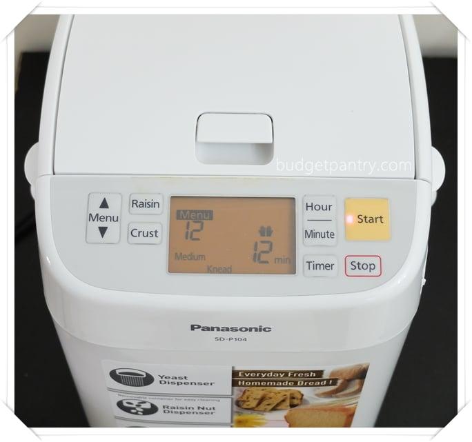 panasonic bread maker sd p104 manual