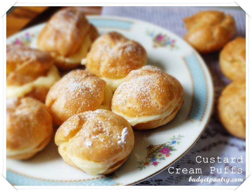 Aug 21- Custard Cream Puffs Recipe