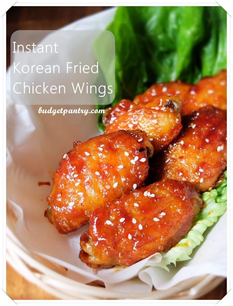 Air fried korean chicken wings