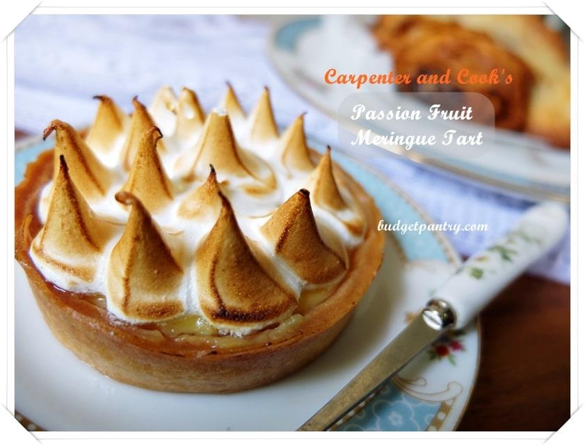 Carpenter and Cook Passionfruit Meringue Tart