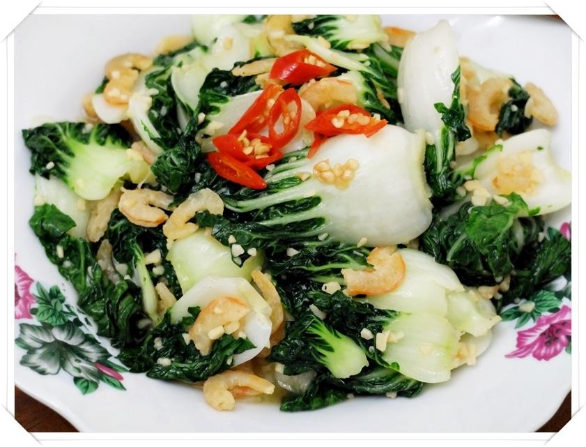 Jan 22- Garlic nai bai dried shrimps2