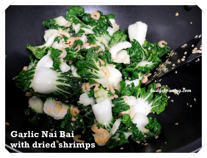 Jan 22- Garlic nai bai dried shrimps3