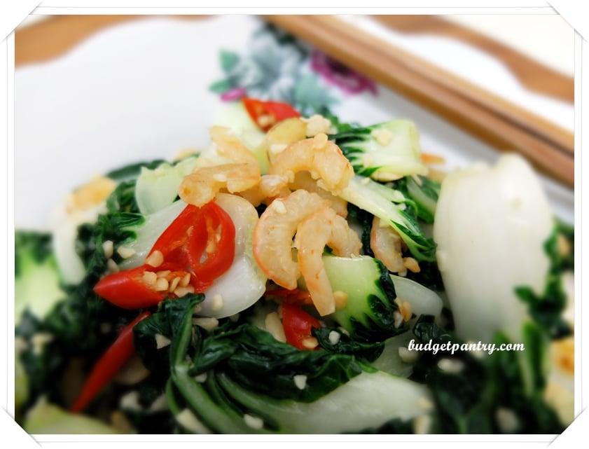 Jan 22- Garlic nai bai dried shrimps5