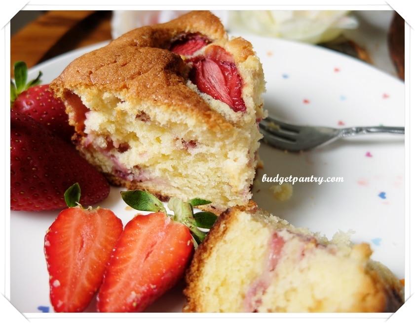 Jan 4- Strawberry Soya Milk Cake 4