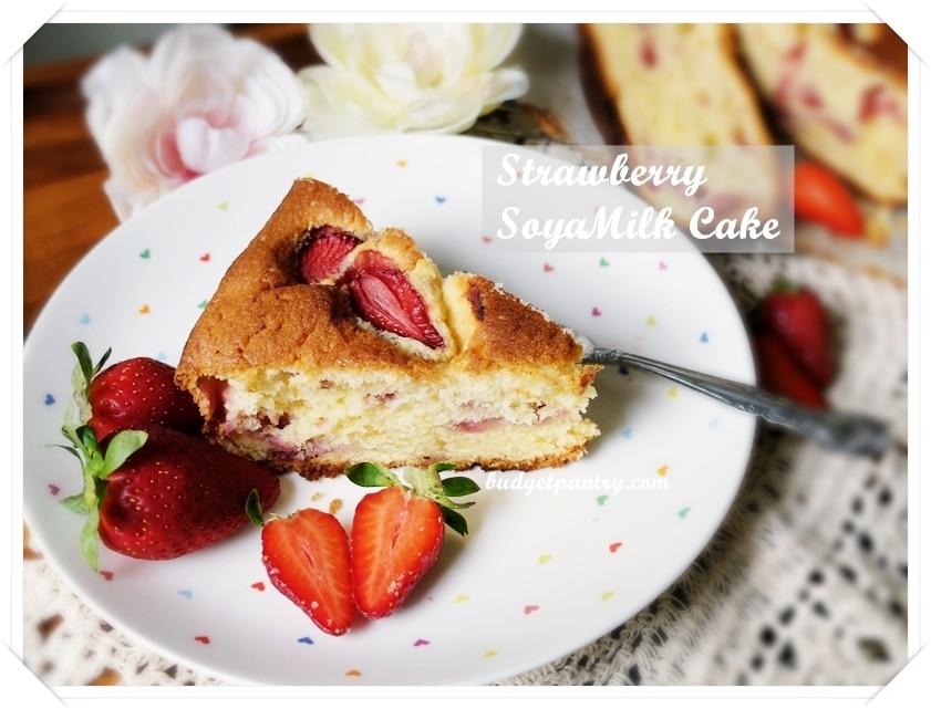 Jan 4- Strawberry Soya Milk Cake