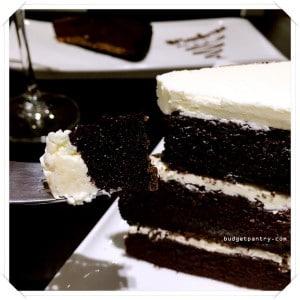 Monochrome Bistro - Black Velvet Cake