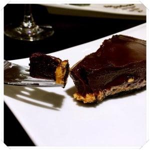 Monochrome Bistro - Chocolate Peanut Butter Tart 1
