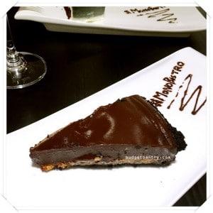 Monochrome Bistro - Chocolate Peanut Butter Tart