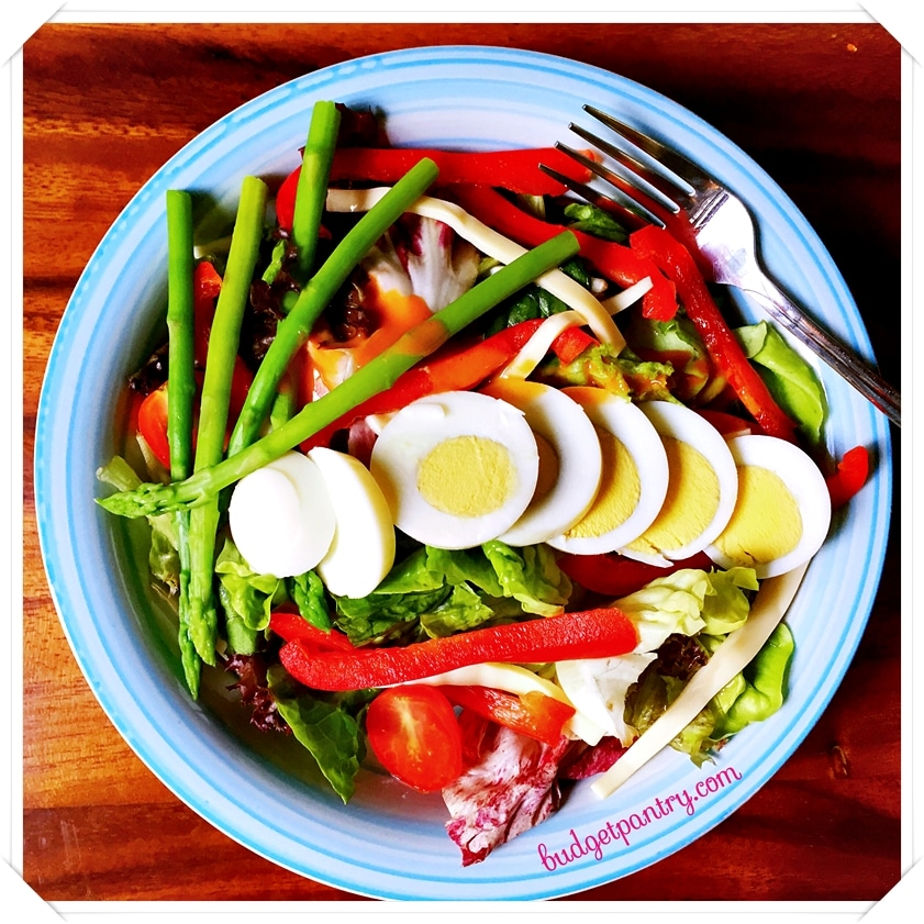 June 3 - Salad with Sriracha Mayo