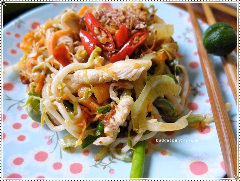 August 29 - Asian Zucchini Salad noodles