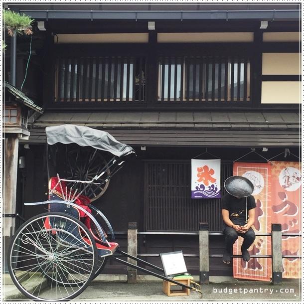Takayama old town rickshaw