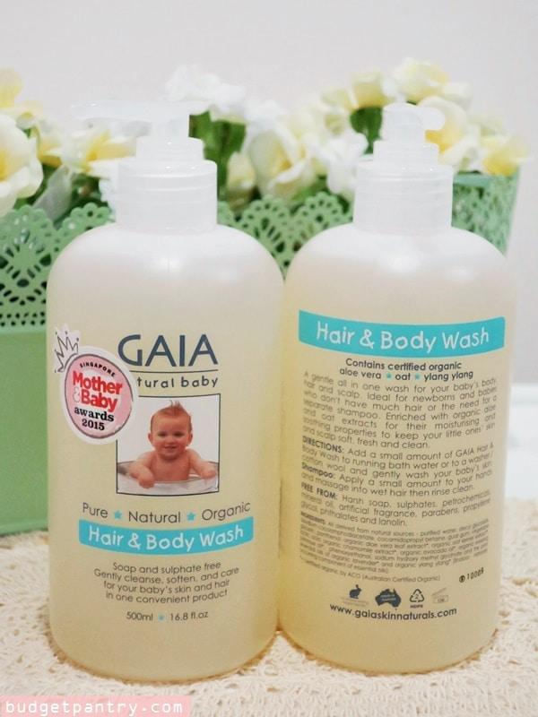 GAIA Natural Baby Hair and Body Wash